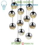 SONNEMAN Lighting Grapes 12 Light LED Round Multipoint Pendant 2917.01-SML, светильник